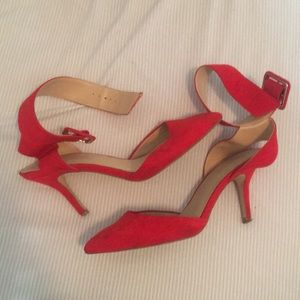 cccb8407c7af6f Women s Red Zara Ankle Strap Heels on Poshmark